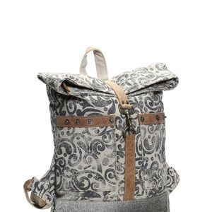 NWT Myra Floral Cowhide & Upcycled Canvas Backpack